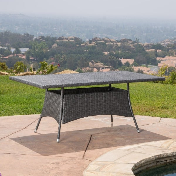 Rectangular Outdoor Wicker Dining Table,