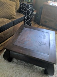 square brown wooden coffee table Central Point, 97502
