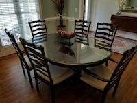 Paula Deen Dining Table with 6 chairs and leaf Lynchburg, 24502