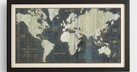 World market old world map wall hanging  Falls Church, 22042