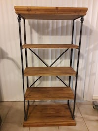 Rustic wood and iron shelves. Milton, 32583