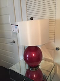 Cerise Pink Blown Glass Table Lamp Baltimore, 21230