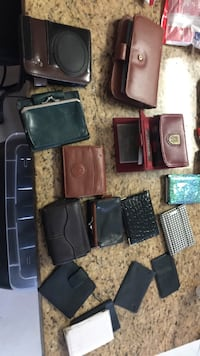 assorted-color leather wallet lot Washington, 20024