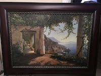 Brown wooden framed painting of house Vacaville, 95687