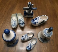 white-and-blue miniature ceramic Holland figurines Toronto, M6A 2T9