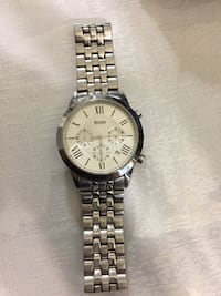 white and silver Boss chronograph watch Temple, 76502