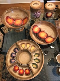 Complete Hand Painted Fruition Dish Set Lakewood