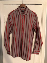 Etro mens button down strip shirt good condition 46 km