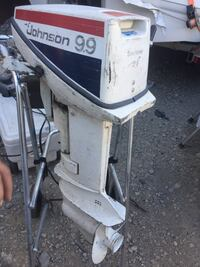White and black outboard motor Toronto, M5A