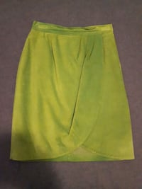 Danier Leather Lime Green Suede Sarong Skirt  Thorold, L2V 3N2