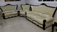 white and brown fabric sofa set Bellflower, 90706
