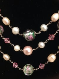 Glass and pearl 3 layer necklace  Buena Park, 90620
