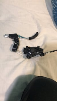 Tektro front brake mechanical disc caliper and lever (no pads or disc) 251 mi