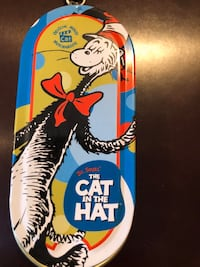 Cat in the Hat Tin Keychain