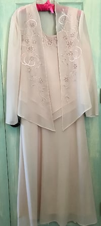 Formal Rose Pink Chiffon Dress, size 10 WORN ONCE Dover, 17315