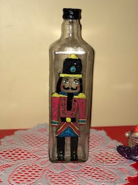 Nutcracker glass bottle Lowell, 01852