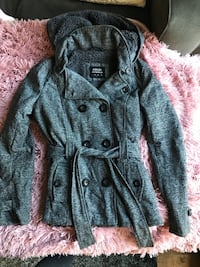 gray double breasted trench coat 2221 mi