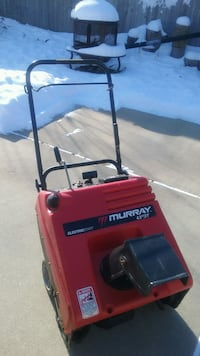 red and black Murray snow blower