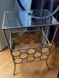 stainless steel frame glass top table