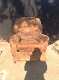 brown and black suede recliner chair Del City, 73115