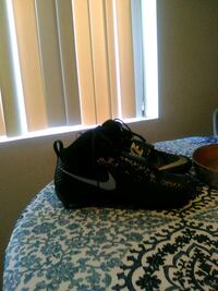 pair of black Nike Air Force 1 low shoes Palm Springs