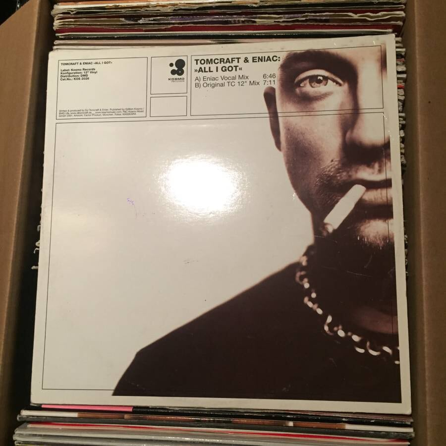 """lot of 100 assorted HOUSE & TECHNO 12"""" vinyl records"""