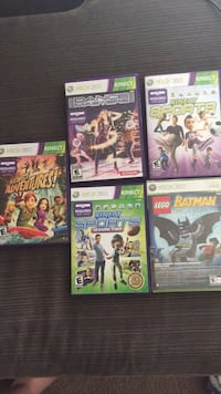 XBOX 360 Kinect Games-great condition with manuals. Lego Batman is new/sealed. Henrico, 23233