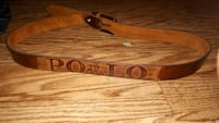 brown Polo leather belt with buckle