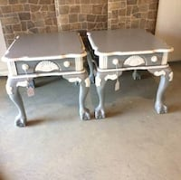 Beautifully Hand Painted Heavy Wood End Tables /Night Stands Laurel