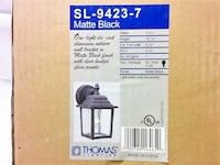 Thomas Lighting Front Entry Porch Light Matte Black BRAND NEW IN BOX! Reston