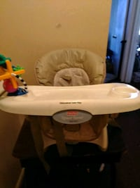 baby's white and gray high chair Greenville, 29605