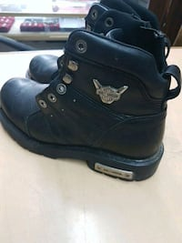 pair of black Harley-Davidson leather boots Edmonton, T5P 3Y3