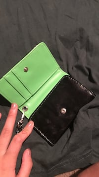 black and green leather wallet Durham, 97224