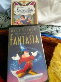 Disney VHS TAPES. Fantasia,snow white, Victorville, 92395