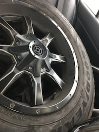 """4 Mag 18"""" rims with center piece"""