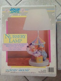 Jolly Jumper nursery mobile and nursery lamp