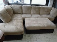 Suede sectional 645 mi