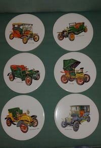 six assorted ceramic decorative plates New Smyrna Beach, 32168