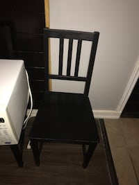Dark brown wooden chairs , set of 2. 7/10 condition used Toronto, M6N 1K9