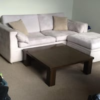 Lavender suede lounge couch; ottoman with lots of storage Vancouver, V6B 1E5