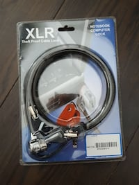black XLR theft proof laptop cable lock pack
