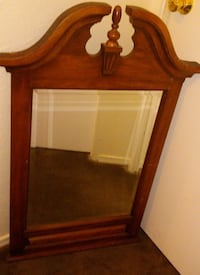 brown wooden framed wall mirror Frederick