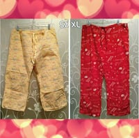 $3 FOR BOTH LOT OF 2 WOMENS PAJAMA BOTTOMS SIZE XL Ontario, 91762