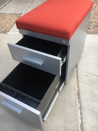 Rolling File Cabinet with Cushion Seat Phoenix, 85086