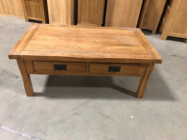 Astonishing Rustic Solid Oak Coffee Table Warehouse Clearance Pabps2019 Chair Design Images Pabps2019Com
