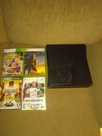black Nintendo 3DS with game cases Tulsa, 74115