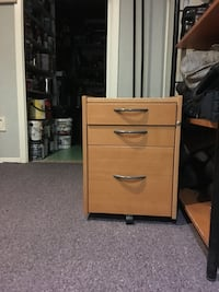 brown wooden 3-drawer chest Toronto, M1E 2G3