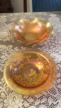 Two amber glass bowls Youngstown, 44514