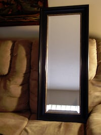 Two (2) Beautiful Wooden Framed Mirrors  Langley