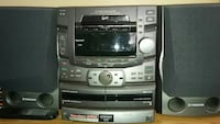 Pioneer 25 cd disk changer double cassette player